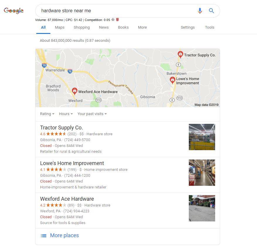 Google Hardware Store Near Me